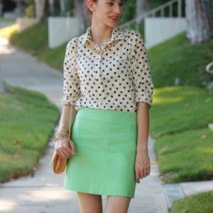 J. Crew Mint Green Skirt